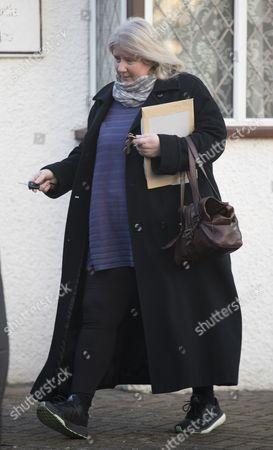 Stock Photo of Kirsten Farage leaving her home in Biggin Hill