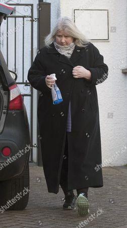 Stock Picture of Kirsten Farage leaving her home in Biggin Hill