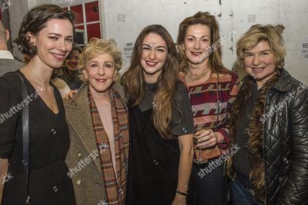 Rebecca Hall, Patricia Hodge, Emma and Nicki Hall and Issy Van Randwyck