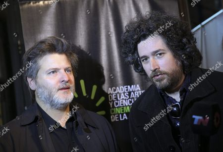 Argentinian Directors Gaston Duprat (l) and Mariano Cohn (r) Pose During the Announcement Ceremony by Argentina's Film Arts and Science Academy of the Movie to Represent the Country at the Next Oscar Awards in Buenos Aires Argentina 30 September 2016 'El Ciudadano Ilustre (lit the Illustrious Citizen)' Directed by Duprat and Cohn was Presented by Argentina in the Foreign Language Best Movie Category For the Oscar Awards Argentina Buenos Aires