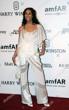 Stock Image of British Model Lea T Arrives to the Amfar Gala in Sao Paulo Brazil 15 April 2016 the Annual Inspiration Gala in Sao Paulo was Launched in 2010 in Order to Raise Funds For the Amfar's Foundation For Aids Research Brazil Sao Paulo