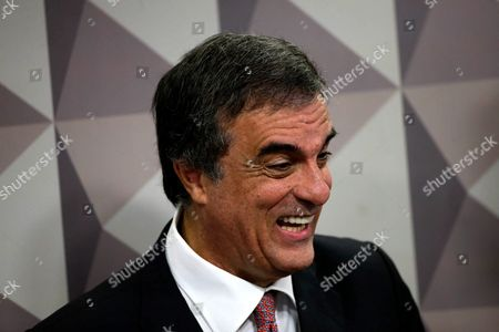 Jose Eduardo Cardozo Lawyer of Brazilian Suspended President Dilma Rousseff Attends a Hearing at the Senate Commission Carrying out the Political Trial Against Rousseff in Brasilia Brazil 06 July 2016 Rousseff Did not Make an Appearance the Process is Scheduled to Be Finished in August Brazil Brasilia