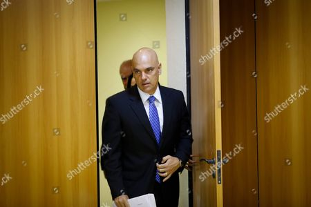 Brazilian Justice Minister Alexandre De Moraes Arrives For a Media Briefing in Brasilia Brazil 21 July 2016 Brazilian Authorities Arrested Ten People in an Anti-terrorist Operation in Different Parts of the Country Only 15 Days Before Olympic Games Said Moraes the Suspected People Were Suspected to Have Tried to Make Contact with Terror Militia Islamic State (is) and Were Planning Attacks on the Rio 2016 Olympics Brazil Brasilia