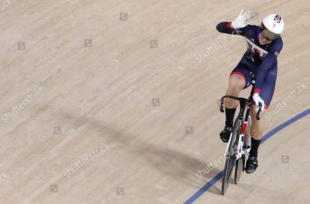Rebecca James of Great Britain After Winning During the Rio 2016 Olympic Games Women's Sprint Quarterfinals at the Rio Olympic Velodrome in the Olympic Park in Rio De Janeiro Brazil 16 August 2016 Brazil Rio De Janeiro