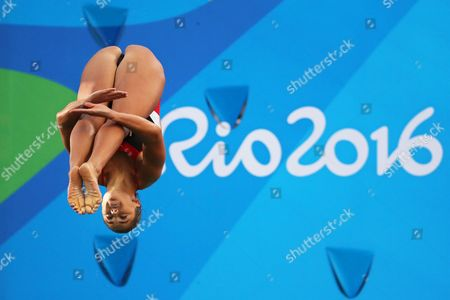 Kassidy Cook of the Usa Performs During the Women's 3m Springboard Semi Final of the Rio 2016 Olympic Games Diving Events at the Maria Lenk Aquatics Centre in the Olympic Park in Rio De Janeiro Brazil 13 August 2016 Brazil Rio De Janeiro