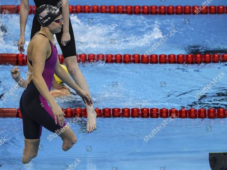 Stock Photo of Us Athlete Jessica Long in Action During the 100m Backstroke S8 Swimming Event During the Rio 2016 Paralympic Games in Rio De Janeiro Brazil 13 September 2016 Brazil Rio De Janeiro