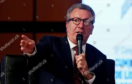 Brussels Mayor Yvan Mayeur During the Sustainable Movility Forum Held During the Frameworks of the Fifth Regional and Local Mayors and Leaders in Bogota Colombia 14 October 2016 Colombia Bogota