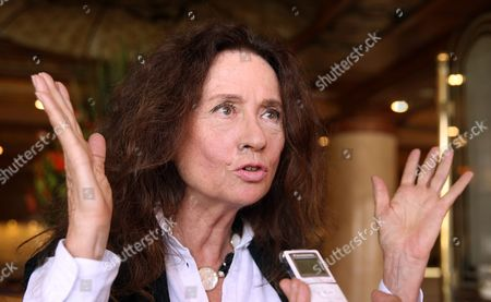 Italian Singer Gigliola Cinquetti Gestures As She Speaks During an Interview with the Spanish Language Agency Efe in Bogota Colombia 06 September 2016 the Italian Song Legend and Two-times Winner of the Prestigeous San Remo Song Festival Returns to Colombia with Symphonic Versions of Her Songs Colombia Bogota