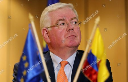 The Special Envoy of the European Union For the Peace Process in Colombia Eamon Gilmore Participates During a Press Conference in Bogota Colombia on 03 October 2016 the European Parliament (ep) Called For Further 'Dialogue For Peace in Colombia' Colombia Bogotß