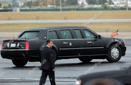 The Limousine Known As 'The Beast' Carrying Us President Barack Obama Leaves From the 'Air Force One' After the Us President's Arrival at Jose Marti Airport in Havana Cuba 20 March 2016 Barack Obama Arrives in Cuba For an Official Visit Until 22 March to Seal the Process of Rapprochement with the Communist-ruled Island Obama is Accompanied by His Wife Michelle His Daughters Malia and Sasha and His Mother-in-law Marian Robinson the Visit of Obama to Cuba From 20 to 22 March 2016 is the First Visit of a Us President to Cuba Since Us President Calvin Coolidge's Visit 88 Years Ago Cuba Havana