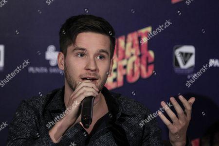 Us Actor Devon Werkheiser Speaks During a Press Conference to Present the Movie 'Guatdefoc' in Mexico City Mexico 19 April 2016 Mexico Mexico City