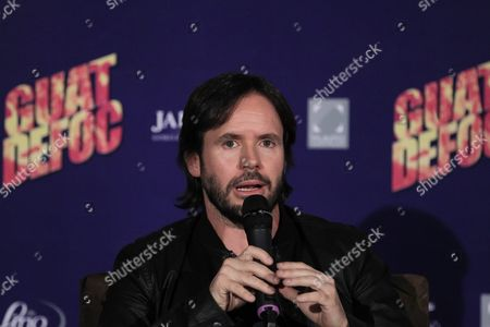 Stock Image of Mexican Filmmaker Fernando Lebrija Speaks During a Press Conference to Present the Movie 'Guatdefoc' in Mexico City Mexico 19 April 2016 Mexico Mexico City
