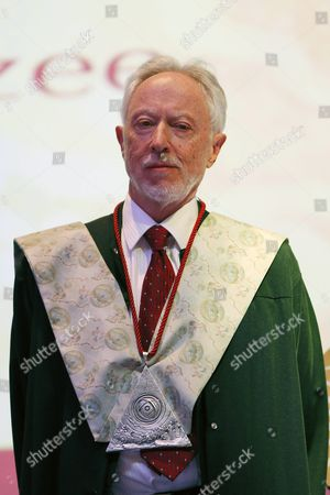 South African Nobel Prize of Literatue John Maxwell Coetzee During a Ceremony in Which He was Honored with the Doctorate Honoris Causa at Universidad Iberoamericana University in Mexico City Mexico 05 April 2016 Mexico Mexico City