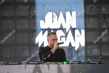 Spanish Dj Juan Magan Performs During the Fenix Tour at the Zocalo in Mexico City Mexico 24 April 2016 Mexico Mexico City