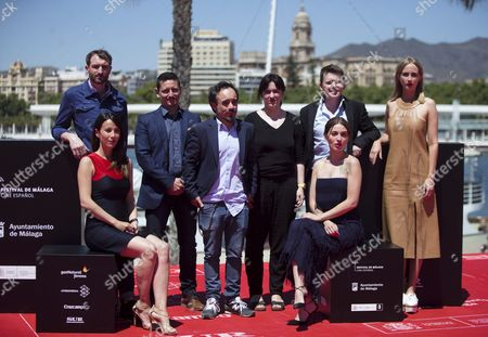 Spanish Director Koldo Serra (4-l) Poses with Actors and Cast Members During the Photocall of the Film 'Gernika'at the 19th Malaga Film Festival in Malaga Spain 26 April 2016 the Film Festival Runs From 22 April to 01 May Spain Malaga