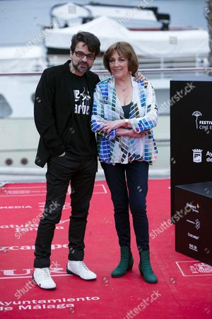 Stock Picture of Spanish Director Pedro Barbero (l) Poses with Spanish Actress/cast Member Carmen Maura During a Photocall For Their Movie 'El Futuro No Es Lo Que Era' (the Future is not what It Once Was) at the 19th Malaga Film Festival in Malaga Spain 29 April 2016 the Film Festival Runs From 22 April to 01 May Spain Malaga
