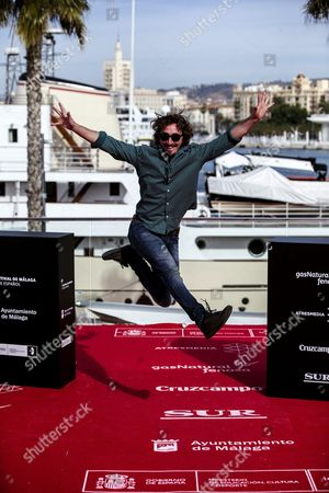 Spanish Actor Ivan Massague Poses During the Presentation of the Film 'Cerca De Casa' at the 19th Edition of Malaga's Spanish Film Festival in Malaga Southern Spain 27 April 2016 the Film Festival Runs From 22 April to 01 May Spain Malaga