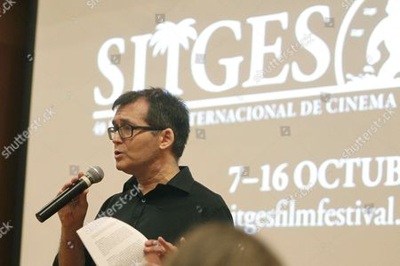 Sitges Fantastic Film Festival Director Angel Sala Delivers His Speech During the Presentation of the 49th Edition of the Festival in Barcelona Northeastern Spain 06 July 2016 the Festival Will Run From 07 Until 16 October Spain Barcelona