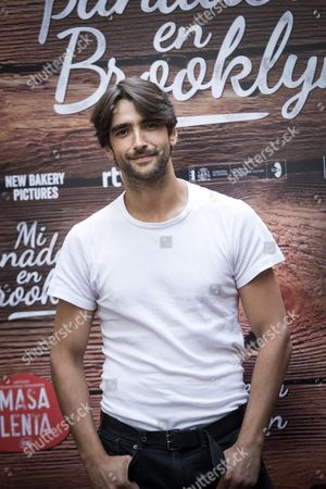 Stock Picture of Spanish Actor Aitor Luna Poses During the Photocall of the Film 'My Bakery in Brooklyn' in Madrid Spain on 28 June 2016 the Spanish Movie That was Filmed in English in New York Will Be Shown in Theatres on 01 July 2016 Spain Madrid