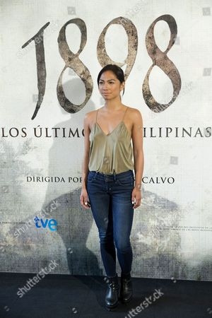 Spanish Actress Alexandra Masangkay Poses During the Presentation of the Filming of the Movie '1898 Los Ultimos De Filipinas' in Madrid Spain 05 May 2016 the Movie Will Be Shot in Guinea Tenerife and Gran Canaria For Nine Weeks Spain Madrid