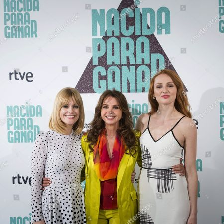 Spanish Actresses and Cast Members (l-r): Alexandra Jimenez Victoria Abril and Cristina Castano Pose For Photographers During the Presentation of Spanish Director Vicente Villanueva's Film 'Born to Win' in Madrid Spain 04 May 2016 the Movie Will Be Premiered in Spanish Cinemas on 06 May Spain Madrid