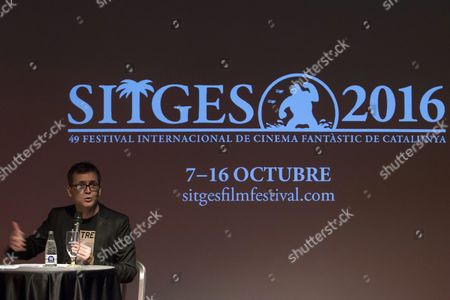 Angel Sala Director of the Sitges International Fantastic Film Festival Speaks During the Presentation of the Poster For the Event's 49th Edition in Barcelona Spain 25 May 2016 the Festival Will Run From 07 to 16 October Spain Barcelona