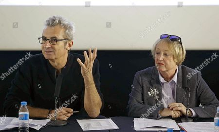British-born Spanish Costume Designer Yvonne Blake (r) and Vice President of the Spanish Film and Arts Academy Mariano Barroso Hold a Press Conference to Announce Blake As the New President of the Spanish Film and Arts Academy in Madrid Spain 15 October 2016 Spain Madrid