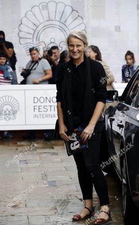Russian Producer Nadia Turincev Arrives to the Hotel For Guests of the San Sebastian International Film Festival in San Sebastian Spain 16 September 2016 the 64th Edition of the Film Festival Runs From 16 to 24 September Spain San Sebastian