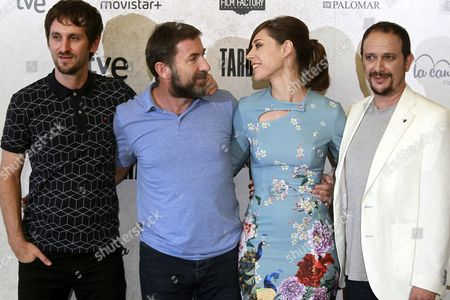(l-r) Spanish Director Raul Arevalo Actors/cast Members Antonio De La Torre Ruth Diaz and Luis Callejo Pose During the Movie Presentation of 'Tarde Para La Ira' ('the Fury of a Patient Man') in Madrid Spain 06 September 2016 the Movie Will Be Released in Spanish Theaters on 09 September Spain Madrid