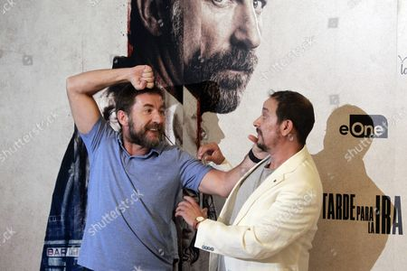 Spanish Actors/cast Members Antonio De La Torre (l) and Luis Callejo (r) Pose During the Movie Presentation of 'Tarde Para La Ira' ('the Fury of a Patient Man') in Madrid Spain 06 September 2016 the Movie Will Be Released in Spanish Theaters on 09 September Spain Madrid