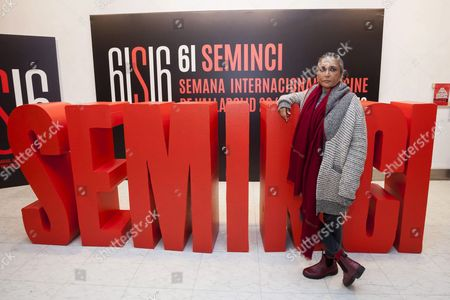 Stock Picture of Indian Filmmaker Deepa Mehta Poses For Photographers During the Presentation of Her Film 'Anatomy of Violence' As Part of 61st Valladolid International Film Festival Seminci in Valladolid Spain 24 October 2016 the Film Competes in the Official Section of Festival Running From 22 to 29 October Spain Valladolid