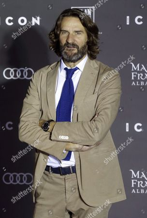 French Writer Frederic Beigbeder Poses For the Media at Her Arrival to the Icon Awards in Madrid Spain 13 October 2016 Frederic Beigbeder Will Receive the Icon Cultural's Award Spain Madrid