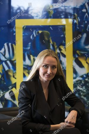 Us Environmentalist Alexandra Cousteau Granddaughter of French Explorer and Filmmaker Jacques-yves Cousteau During an Interview Held in Barcelona Catalonia Spain 25 February 2016 where She Has Marked the Dangers of the Creations of 'Refugees of Water' Due to Its Shortage Spain Barcelona