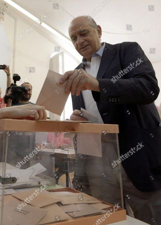Acting Spanish Minister of Interior and Head of the List For Popular Party (pp) in Barcelona Jorge Fernandez Diaz Casts His Vote During General Elections at a Polling Station in Barcelona Spain 26 June 2016 More Than 36 Million Spaniards Go to the Polls Today For the Second Time to Vote in General Elections After No Party Had the 176 Seats Required to Form a Government in the First Vote Held on 20 December 2015 Spain Barcelona