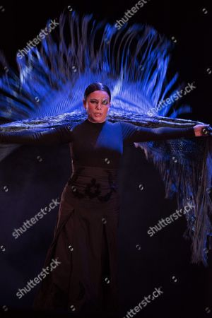Spanish Flamenco Dancer and Choroegrapher Eva Yerbabuena Performs on Stage During the Granada International Festival of Music and Dance at the Generalife Theatre in Granada Southern Spain 30 June 2016 Spain Granada