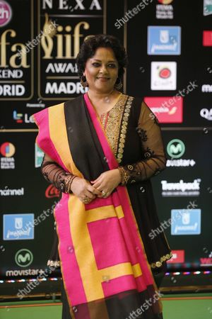 Stock Image of Indian Actress Tanvi Azmi Poses For Photographers Upon Her Arrival at the International Indian Film Academy (iifa) Awards in Madrid Spain 25 June 2016 Spain Madrid