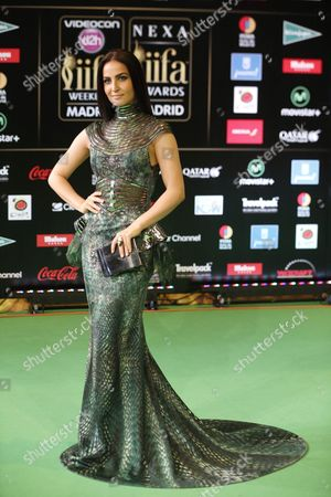 Swedish Actress Elli Avram Poses For Photographers Upon Her Arrival at the International Indian Film Academy (iifa) Awards in Madrid Spain 25 June 2016 Spain Madrid