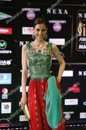 Spanish Actress Yolanda Font Arrives Arrive at the International Indian Film Academy (iifa) Awards in Madrid Spain 25 June 2016 Spain Madrid