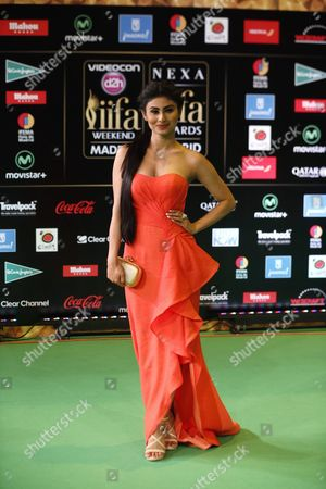Indian Actress Mouni Roy Poses For Photographers Upon Her Arrival at the International Indian Film Academy (iifa) Awards in Madrid Spain 25 June 2016 Spain Madrid