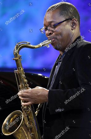 Stock Photo of Us Saxophonist Ravi Coltrane Performs on Stage During a Concert Held at the Trinidad Square As Part of the 51st Jazzaldia San Sebastian Jazz Festival in San Sebastian Spain 23 July 2016 the Festival Runs From 20 to 25 July Spain San Sebastian