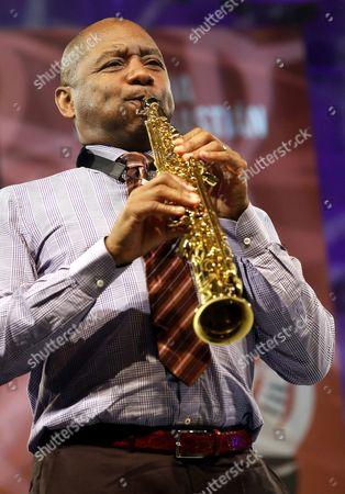 Us Saxophonist Branford Marsalis Performs on Stage at the Trinidad Square As Part of the 51st Jazzaldia San Sebastian Jazz Festival in San Sebastian Spain 22 July 2016 the Festival Runs From 20 to 25 July Spain San Sebastian