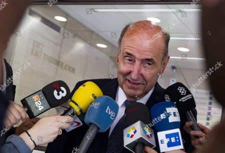 Miquel Roca Lawyer of Spain's Infanta (princess) Cristina Speaks to Journalists in Barcelona Northeastern Spain 15 April 2016 Roca Has Stated That He Has not 'Considered Nor Consider Or Will Never Consider a Solution Leaving the Judicial Seat Aside' in the So-called Noos Case in Which His Client is Facing a Corruption Trial Spain Barcelona