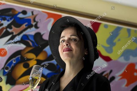 Belgian Writer Amelie Nothomb Pose During the Presentation of Her Last Novel 'Petronille' an Autobiographic Story About the Friendship Between Two Women Writers in Barcelona Spain 07 April 2016 Spain Barcelona