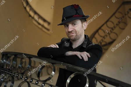 French Writer Filmmaker and Singer Mathias Malzieu Poses During an Interview in Barcelona Spain 05 March 2016 to Present His Book 'Journal D'un Vampire En Pyjama' (lit Diary of a Vampire in Pyjama) the Book Tells About a Rare Blood-disease Which He Suffered and Let Him at Death's Door Spain Barcelona