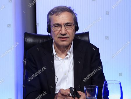 A Picture Made Available on 31 March 2016 Shows Turkish Nobel Prize Orhan Pamuk During His Participation in the Second Day of the Conference Entitled 'Vargas Llosa: Culture Ideas and Freedom' Organized on the 80th Birthday of Peruvian Nobel Laureate Mario Vargas Llosa in Madrid Spain 30 March 2016 Spain Madrid