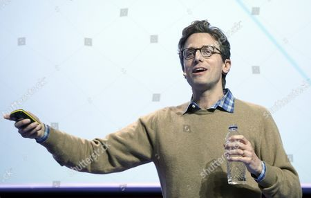 Founder of the Us Media Company Buzzfeed Jonah Peretti Speaks During a Conference at the Mobile World Congress in Barcelona Spain 23 February 2016 the Mobile World Congress Will Run From 22 to 25 February 2016 Spain Barcelona