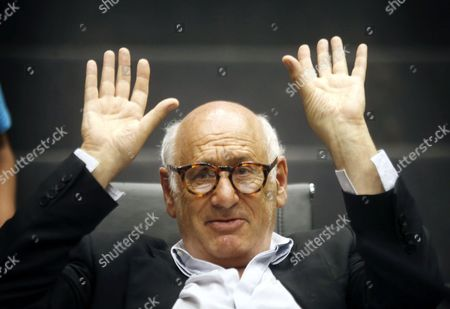 British Composer and Pianist Michael Nyman Poses During a Press Conference in Alicante Spain 12 August 2016 Nyman Records His Last Three Symphonies at the Auditorium of the Provincial Council of Alicante Spain Alicante