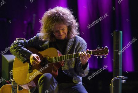 Us Jazz Musician and Guitarist Pat Metheny Perfoms on Stage During the 40th Vitoria's Jazz Festival Opening Concert Held in Vitoria Basque Country Northern Spain 16 July 2016 the Festival Runs From 12 to 16 July Spain Vitoria