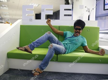 A Picture Made Available on 22 July 2016 Shows Brazilian Singer Carlinhos Brown During an Interview with Spanish Press Agency Agencia Efe at the Company's Headquarters in Madrid Spain 21 July 2016 Spain Madrid