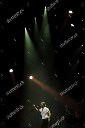 Spanish Musician and Singer Manuel Carrasco Perfoms on Stage During His Concert at the Teatro Real As Part of the Universal Music Festival in Madrid Spain 28 July 2016 Spain Madrid